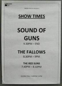 Sound of Guns Set Times